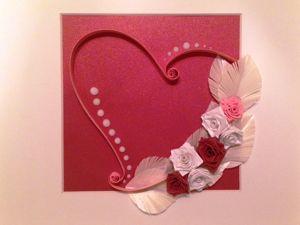 Создание интерьерной картины в технике квиллинг «Сердце». Ярмарка Мастеров - ручная работа, handmade.