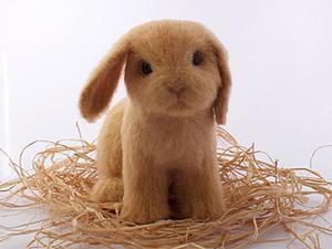Мастер-класс по валянию крольчонка. Ярмарка Мастеров - ручная работа, handmade.