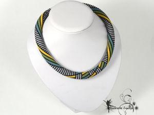 Жгут-колье  «Илона»  ожерелье украшение на шею. Ярмарка Мастеров - ручная работа, handmade.