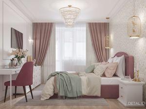 Женственная спальня в стиле современной классики. Ярмарка Мастеров - ручная работа, handmade.