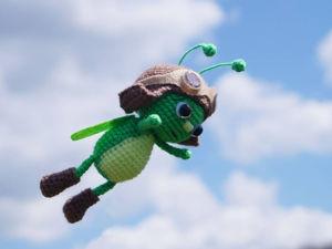 Смена нити при вязании животика Букашки-пилота. Ярмарка Мастеров - ручная работа, handmade.
