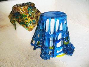 Делаем подсвечник из стекла. Часть 2. Моллирование стекла. Ярмарка Мастеров - ручная работа, handmade.