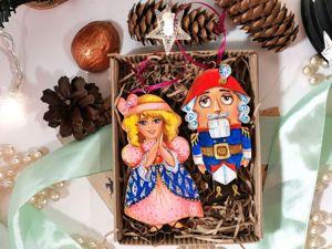ВИДЕО  Щелкунчик и Мари. Подарочный набор ёлочных игрушек. Ярмарка Мастеров - ручная работа, handmade.