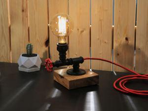 Как сделать стильный светильник в стиле Лофт. Ярмарка Мастеров - ручная работа, handmade.