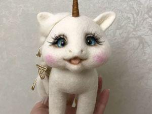 В моем магазине валяшек скидка на заказы 40%!!!А котик Листик всего 3000р. Ярмарка Мастеров - ручная работа, handmade.