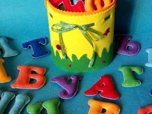 Радужный алфавит для самых маленьких. Ярмарка Мастеров - ручная работа, handmade.
