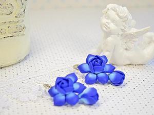 Лепим прекрасные серьги из полимерной глины. Ярмарка Мастеров - ручная работа, handmade.