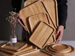 Размеры и фото подносов из бамбука. Ярмарка Мастеров - ручная работа, handmade.