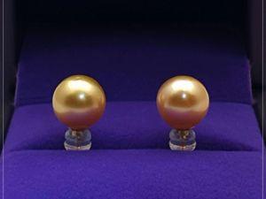 Серьги с морским жемчугом «Злата» золото 750 пробы. Ярмарка Мастеров - ручная работа, handmade.