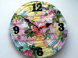 Handmade Clock from Newspaper Tubes. Livemaster - handmade