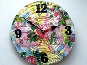 Часы своими руками из газетных трубочек. Ярмарка Мастеров - ручная работа, handmade.