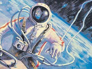 В память об А.А.Леонове, космонавте и художнике. Ярмарка Мастеров - ручная работа, handmade.