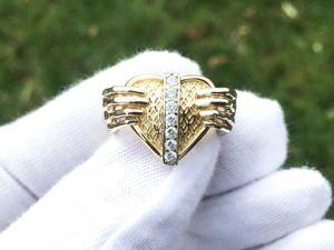 Обзор кольца  «Heart in hands»  из золота 585 с бриллиантами. Ярмарка Мастеров - ручная работа, handmade.