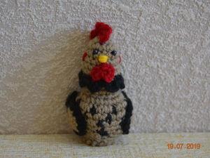 Вяжем персонажа курочку для пальчикового кукольного театра «Курочка Ряба». Ярмарка Мастеров - ручная работа, handmade.