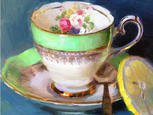 Чаепитие от Елены Кацура. Ярмарка Мастеров - ручная работа, handmade.