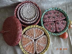 Плетем веселые коробочки из бумажной лозы. Часть первая. Ярмарка Мастеров - ручная работа, handmade.