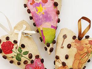 Кофейное сердечко с декупажем.. Ярмарка Мастеров - ручная работа, handmade.