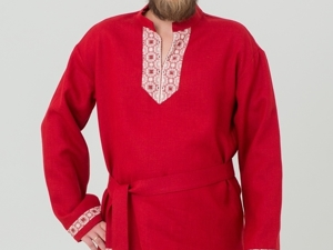 Мужская Рубаха  «бРусничный Цвет». Ярмарка Мастеров - ручная работа, handmade.