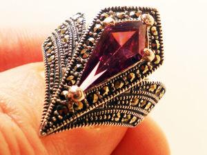 Аукцион на аметистовое серебряное кольцо ручной работы. Ярмарка Мастеров - ручная работа, handmade.