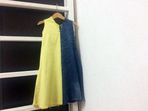 Шьем детское платье из старых джинсов: видеоурок. Ярмарка Мастеров - ручная работа, handmade.