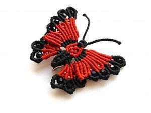 """Плетем яркую брошь """"Бабочка"""" в технике макраме. Часть 2. Ярмарка Мастеров - ручная работа, handmade."""