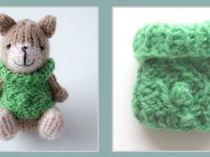 Вяжем теплый джемпер для маленькой игрушки за полчаса. Ярмарка Мастеров - ручная работа, handmade.
