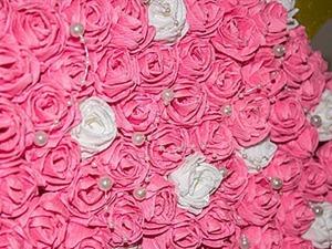 Видео мастер-класс: делаем розы из гофрированной бумаги. Ярмарка Мастеров - ручная работа, handmade.
