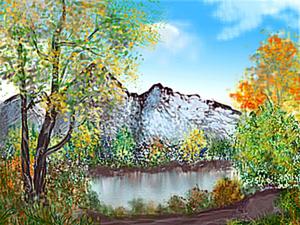 Как создать горный пейзаж в Фотошопе. Ярмарка Мастеров - ручная работа, handmade.