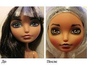 OOAK: перерисовка лица куклы. Ярмарка Мастеров - ручная работа, handmade.