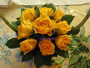 Корзинка с розами. Простой вариант.. Ярмарка Мастеров - ручная работа, handmade.