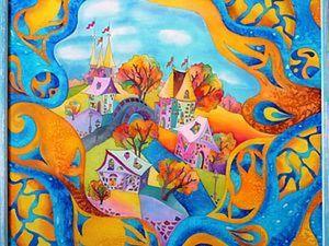 Городок Фантазий.по одному  шаблону распишем много разного.. Ярмарка Мастеров - ручная работа, handmade.