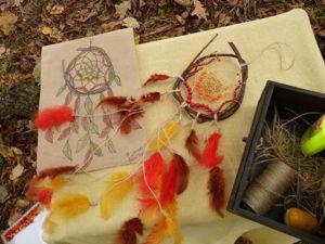 Видеоурок: плетение осеннего Ловца Снов. Ярмарка Мастеров - ручная работа, handmade.