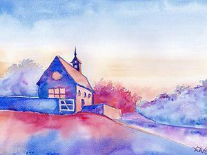 Пишем «Дом» акварелью. Speed Painting. Ярмарка Мастеров - ручная работа, handmade.