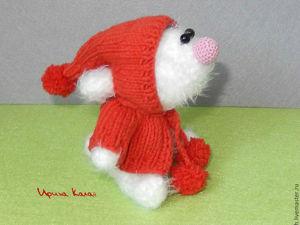 Вяжем рождественскую игрушку «Замечтательный зайка». Ярмарка Мастеров - ручная работа, handmade.
