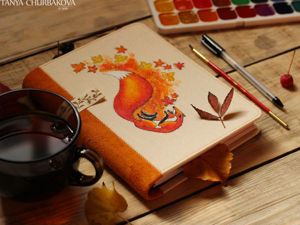 Make Autumn Notebook For Warmest Thoughts. Livemaster - handmade