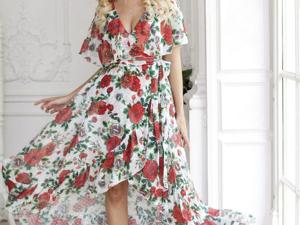 Аукцион на Яркое летящее платье! Старт 3000 руб.!. Ярмарка Мастеров - ручная работа, handmade.