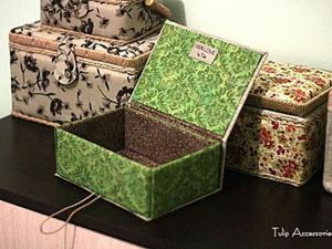 A Simple DIY Project: Jewellery Box of Cardboard. Livemaster - handmade