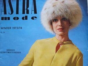 Astra Mode -старый журнал мод из Австрии — Зима 1973/ 74. Ярмарка Мастеров - ручная работа, handmade.