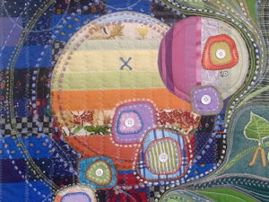 Текстильное панно  «Жизни поток зеленый». Ярмарка Мастеров - ручная работа, handmade.