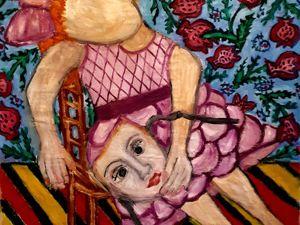 """На этой неделе в акции """"-30-50"""" принимает участие картина """"Кукла отдыхает"""". Ярмарка Мастеров - ручная работа, handmade."""