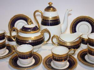 Шикарный кофейный сервиз на 8 персон, Coalport, Англия. Ярмарка Мастеров - ручная работа, handmade.