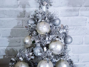 DIY Table Christmas Tree of Tinsel. Livemaster - handmade