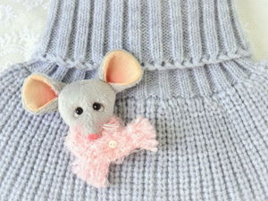 Create Cozy Mouse-Brooch. Livemaster - handmade