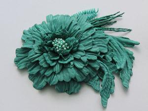 Создаем из кожи брошь «Осенний цветок». Ярмарка Мастеров - ручная работа, handmade.