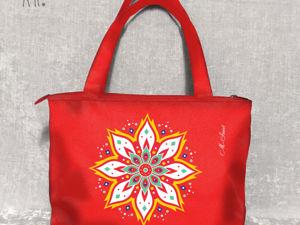 Сумка «Огненный цветок»: танец ярких красок. Ярмарка Мастеров - ручная работа, handmade.