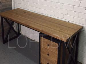Стол из ясеня с выкатной тумбой. Ярмарка Мастеров - ручная работа, handmade.
