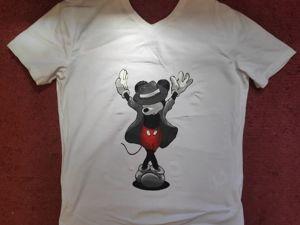 Мастер-класс  «Роспись футболки Микки Маус». Ярмарка Мастеров - ручная работа, handmade.