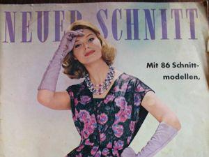 Neuer Schnitt — старый немецкий журнал мод 12/1960. Ярмарка Мастеров - ручная работа, handmade.