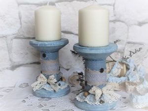 DIY Boho Candle Holder out of a Bobbin. Livemaster - handmade
