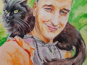 Пленэр в Карпатах с котом Мильйончиком). Ярмарка Мастеров - ручная работа, handmade.